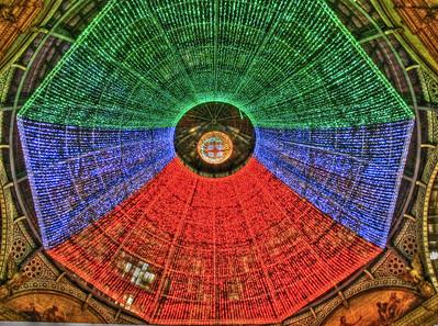 ceiling at night in Galleria Vittorio Emanuele II