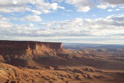 Canyonland's Orange Cliffs overlook