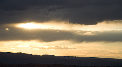 sunset near Delicate arch