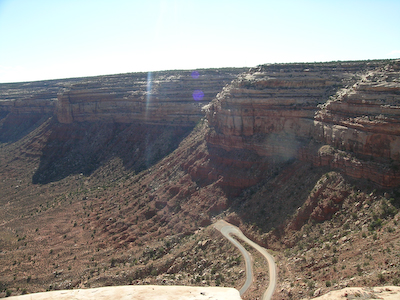 Moki dugway. Check out the switchbacks.