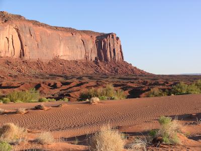 sand dunes near totem pole