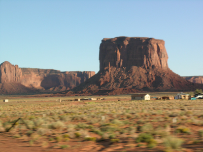 entrance to Monument Valley, Navajo nation