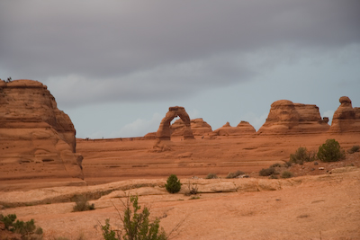 after hurrying to Delicate arch before sundown