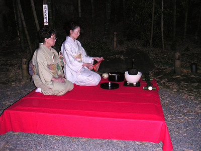 Geishas doing the tea ceremony