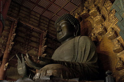world's largest statue - temple  todaiji daibutsu