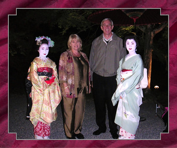 Geishas and Barb and Toby Hynes.  Toby is the CEO of Gulf States Toyota and very powerful.