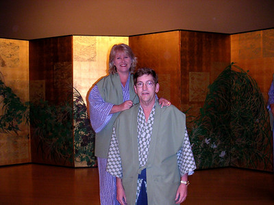 Barb & David in kimonos at the Gora Kadan