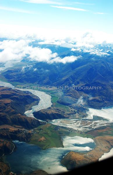 NZ Landscape - Airplane Window