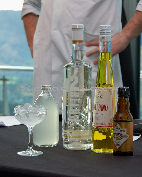 Martini Glass and Spirits