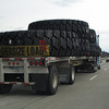 On the road..I-80 for many miles...saw the biggest tires ever...