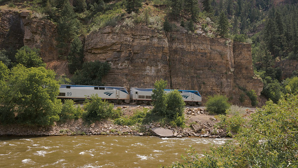 Glenwood Canyon ~ Amtrak runs from Denver to Glenwood Springs. Would be a spectacular ride.