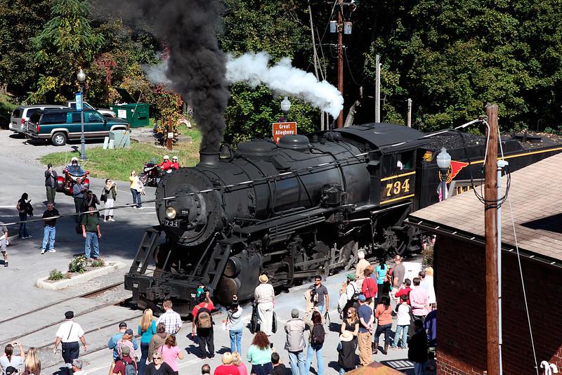 Passengers At Frostburg Station