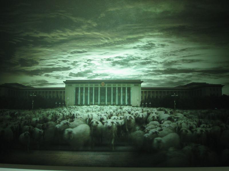 Mao's tomb & sheep. Hmmmm....
