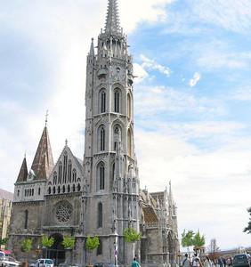 Full view of Matthias Church in Budapest, Hungary