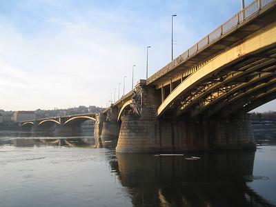 Margaret Bridge on Danube, Budapest