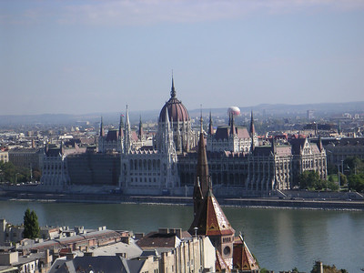another view of the Pest side of Budapest.  The river splits the city into Buda and Pest. (Pronounced Pesht)