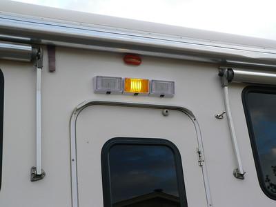 New 3-way LED porch lights.