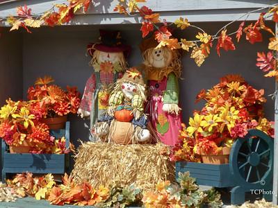A Fall scene outside a local store in Ponchatoula, LA.