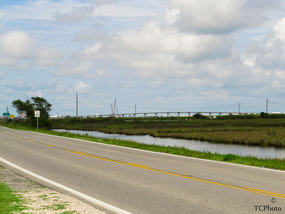 The route to Grand Isle crosses many bodies of water....