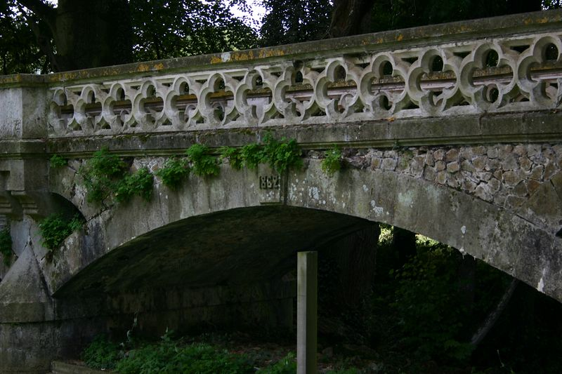 1 of three bridges over the moat