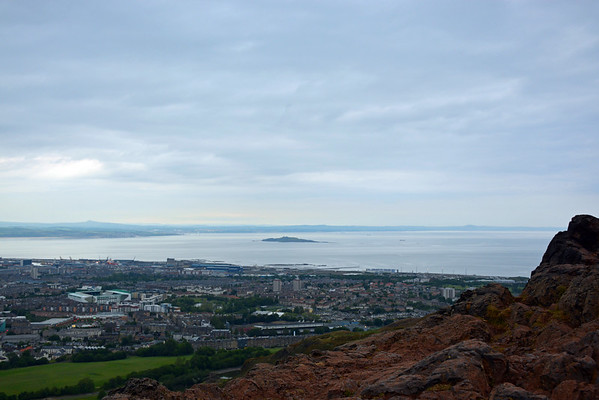 The Firth of Forth with Inchkeith in the distance.