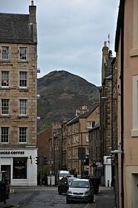 Arthur's Seat looming over Edinburgh