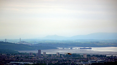 The Firth of Forth in the distance.