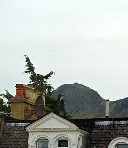 Arthur's Seat from the window in our guesthouse room