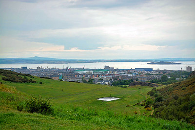 The Firth of Forth in the distance