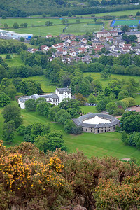 A view from the almost-peak at Prestonfield House Hotel and Stables.