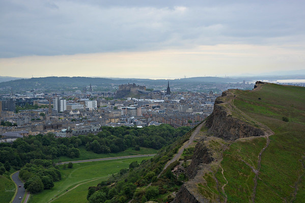 Queen's Road in Holyrood Park