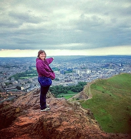 Myself at the top of Arthur's Seat feeling quite accomplished.