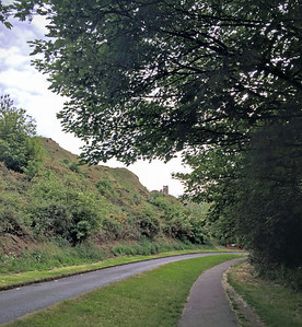 Queen's Drive on the north side of Arthur's Seat.