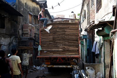 Carton box recycle business, Dharavi.
