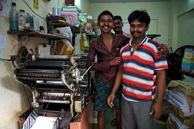 Printing shop, Dharavi.