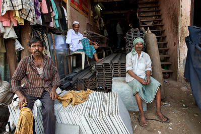 Iron recycle business, Dharavi.