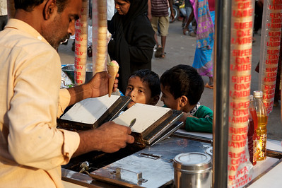 Icecream vendor, Dharavi.