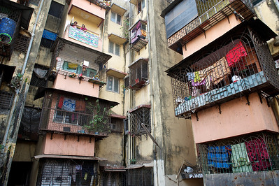 Dharavi high rises constructed around 2004.