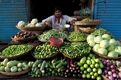 Vegetable vendor, Dharavi.