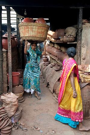 The Kumbhar (potters) street, Dharavi.