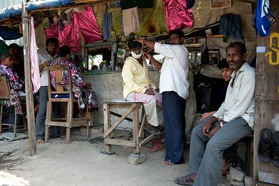 Barbershop, Dharavi.