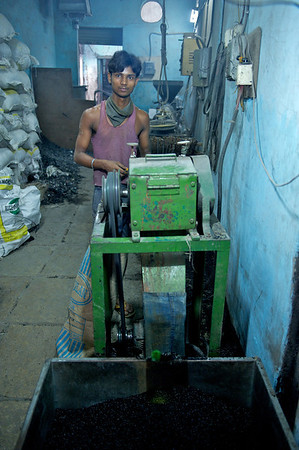 Plastic recycling business, Dharavi.