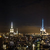 From the top of Rockefeller Center - Empire State Building and One World Trade Center