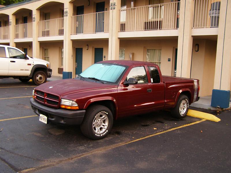 Parked at the Super 8 Motel in Nashville, TN