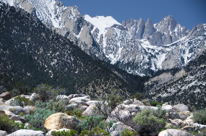 Alabama Hills, just behind Lone Pine, CA, with Mt. Whitney on skyline