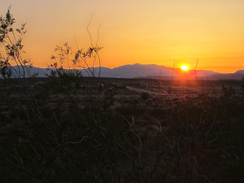 Sunset at Sand Hollow SP campground