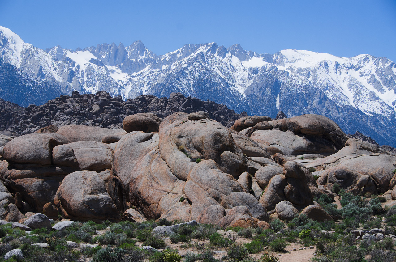 Alabama Hills with Mt. Whitney