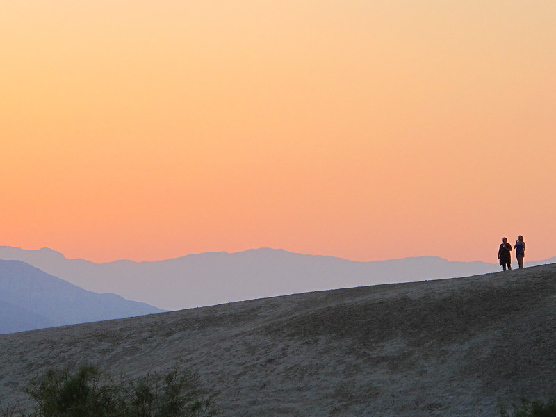 Sunset, Texas Springs campground, Death Valley