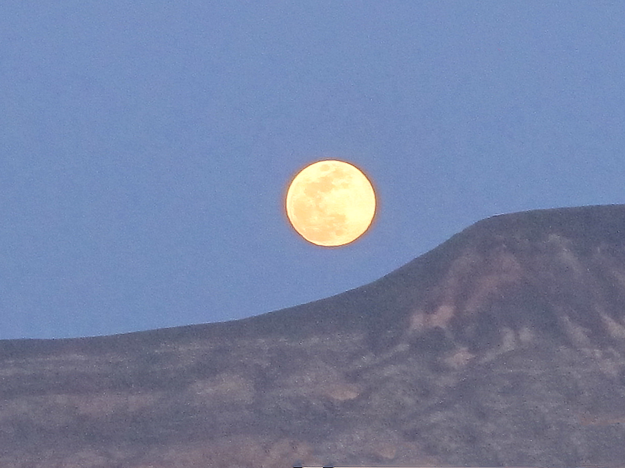 Moon over Texas Springs campground, Death Valley