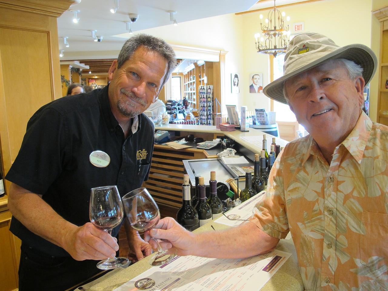 San Antonio Winery tasting Opaque Zinfandel with Ron